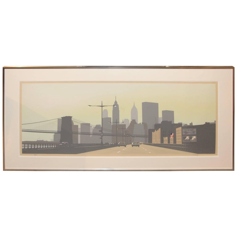 Howard Kanovitz Serigraph East Side Drive New York City