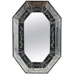 Octagonal Etched Venetian Mirror