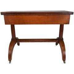 French 19th Century Empire Flip-Top Console Table