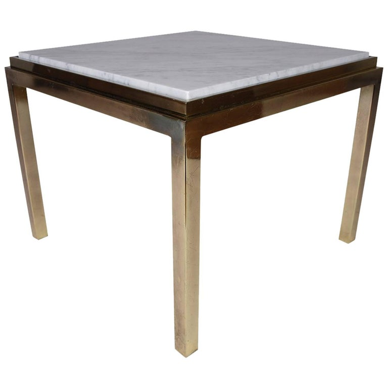 Stone Coffee Tables With Modern Style: Modern Brass And Marble Coffee Table For Sale At 1stdibs