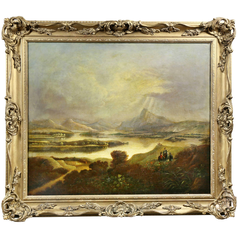 Scottish Landscape Oil on Canvas Painting