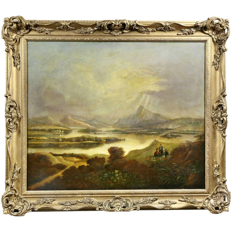 Scottish Landscape Oil on Canvas Painting For Sale