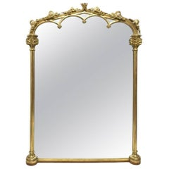 Thomas Fentham 136 the Strand a Late Georgian Gothic Revival Gilt Wall Mirror