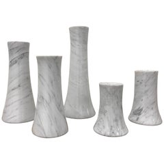 Italian Marble Vases by Angelo Mangiarotti for Skipper