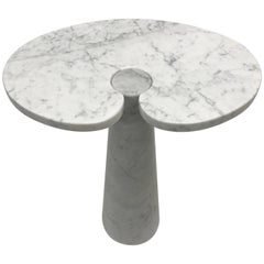 Angelo Mangiarotti Carrara Marble Eros Side Table