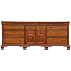 George III Oak and Mahogany Dresser or Sideboard