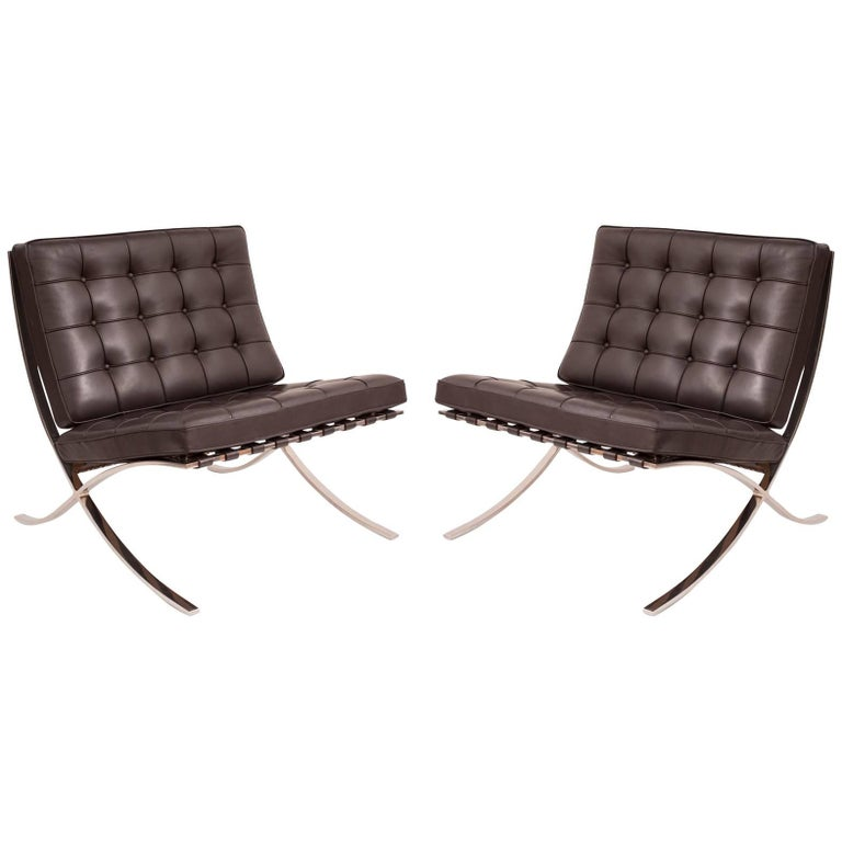 mies van der rohe knoll barcelona chairs at 1stdibs. Black Bedroom Furniture Sets. Home Design Ideas