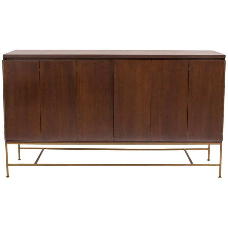 Paul McCobb Calvin Mahogany and Brass Sideboard