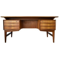 Danish Midcentury Executive Teak Desk, 1960s