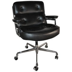 Eames Lobby Chair ES104 Black Leather