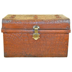 Early 20th Century Metal Crocodile Trunk, Jones Brothers, UK