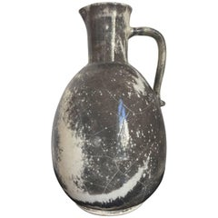 Ceramic Jar by Richard Uhlemeyer in Grey and Off-White