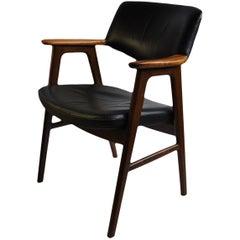 Erik Kirkegaard Rosewood and Leather Armchair