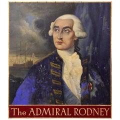 Admiral Rodney Oil Portrait Sign