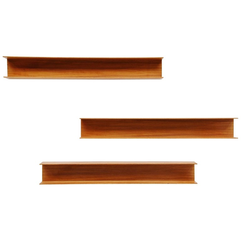 Walter Wirz Wall Shelves Wilhelm Renz Teakwood, Germany, 1965