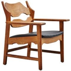 Henning Kjaernulf Razor Blade Chair Denmark, 1960