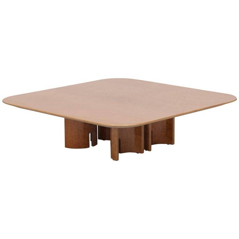 Square Burl Coffee Table by Giovanni Offredi for Saporiti