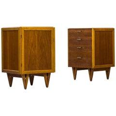 Pair of Scandinavian Teak and Oak Cabinets by Bengt Ruda for Ikea, 1950s