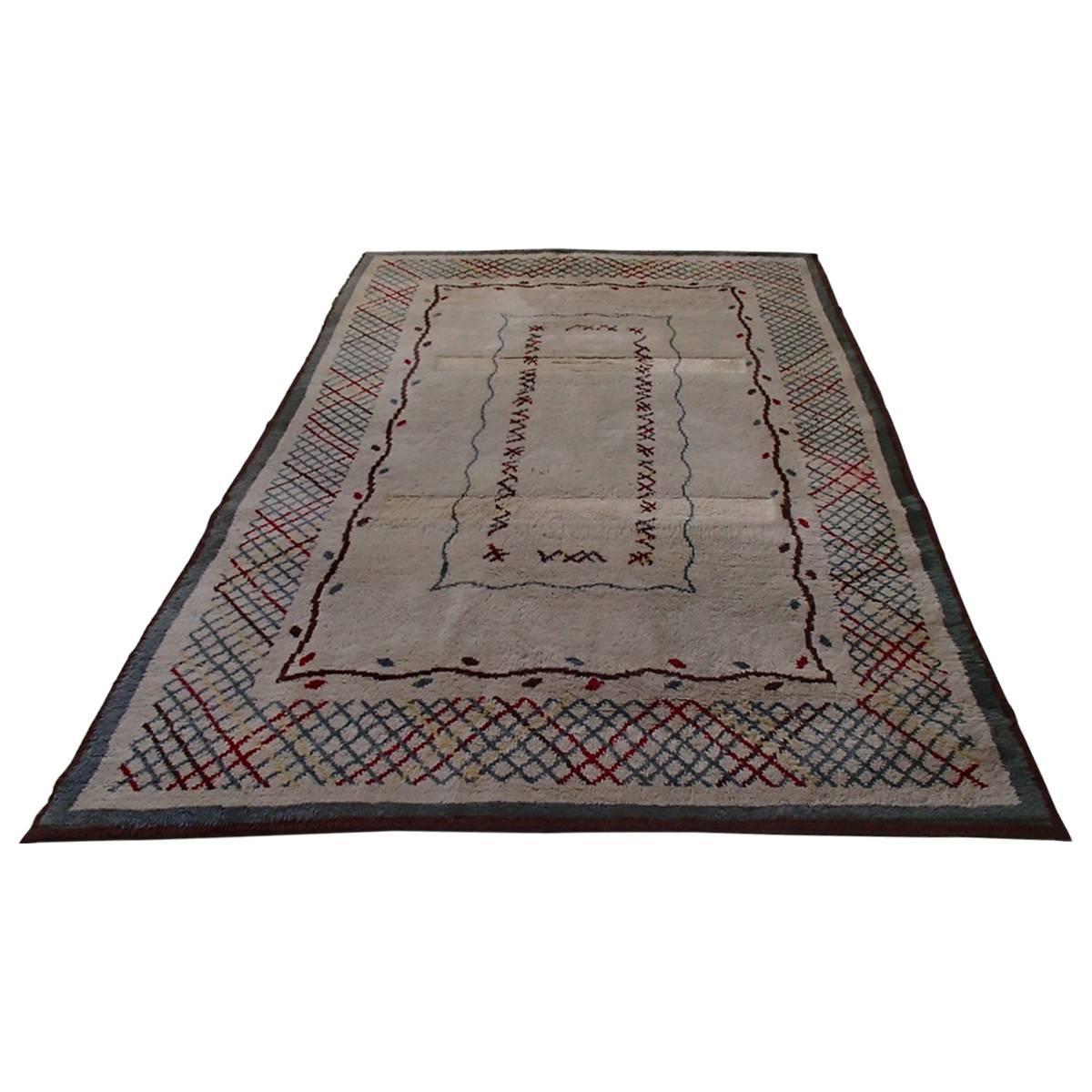Midcentury carpet signed by Leleu