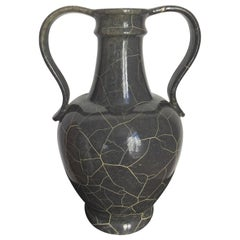 Ceramic Jar by Richard Uhlemeyer in Grey and Primrose, 1940