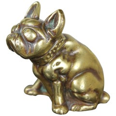 Early 20th Century Brass French Bulldog Figurine