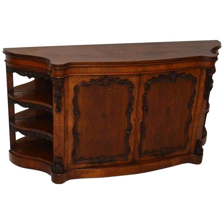 Antique Victorian Walnut Sideboard Credenza - Antique Walnut Spanish Revival Sideboard At 1stdibs