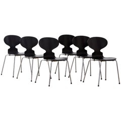 1952, Arne Jacobsen, Ant Chairs, Repainted by Piece or as a Set
