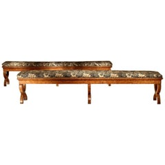 Pair of Early 19th Century Elm Benches