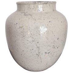 Ceramic Vase by Richard Uhlemeyer in Off-White Shade with Grey