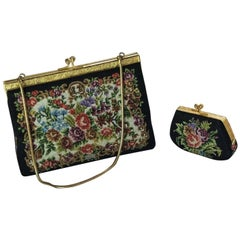 Vintage Gobelin Clutch Handbag with Coin Purse, circa 1930