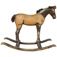 Early Primitive Rocking Horse from Sweden, circa 1880