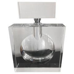 Crystal Flacon Venetian Crystal Color Clear Crystal 1950 in Style of Chanel
