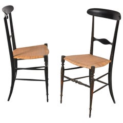 Pair of Campanino Classica Chiavari Chairs by Fratelli Levaggi, Italy, 1950
