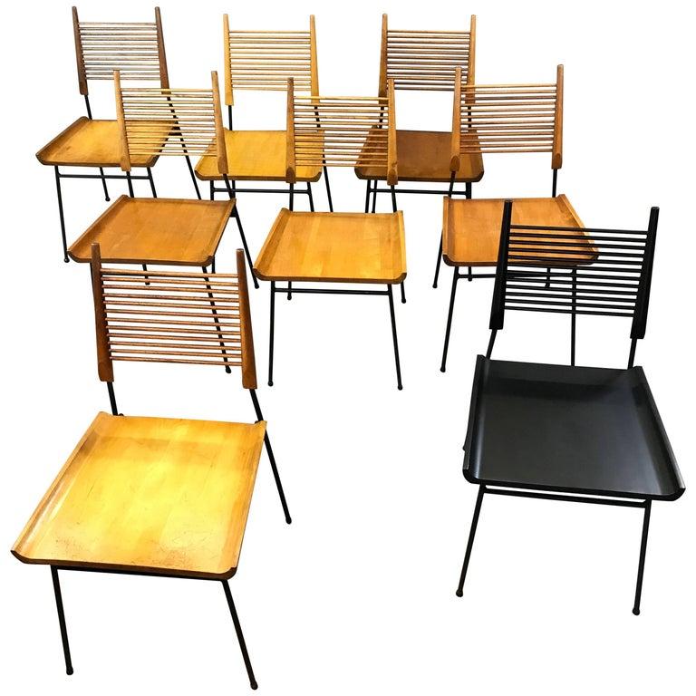 Mid-Century Modern Paul McCobb Maple Shovel Chairs for Winchendon