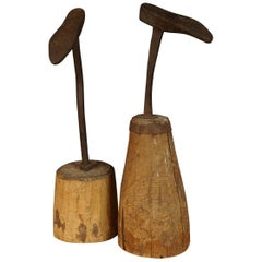 Pair of Cobbler Molds from Sweden, circa 1880