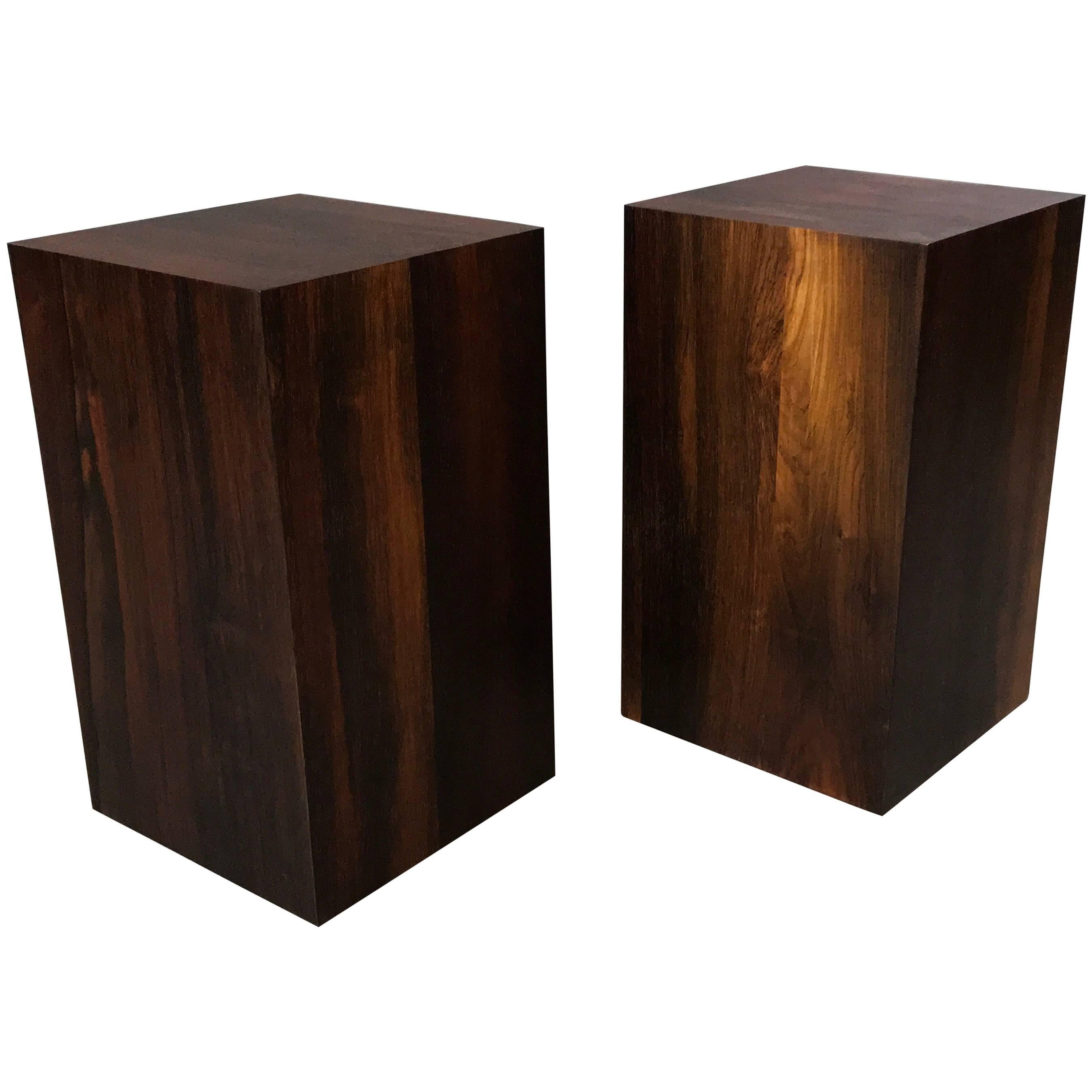 Solid Rosewood Midcentury Craftsman End Table Display Stands