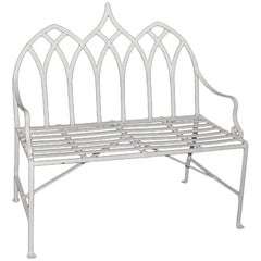 Gothic Style Iron Indoor/Outdoor Setee