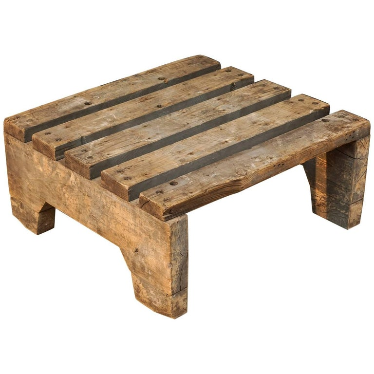 Primitive Pallet Coffee Table From France, Circa 1940 At