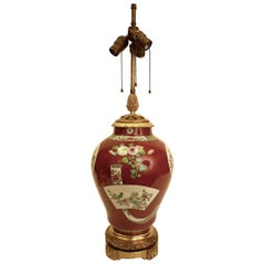 Bronze Mounted Chinese Porcelain Lamp