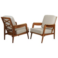 Two 1950s Armchairs by the Ateliers Saint Sabin
