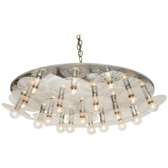 Fabulous, 1970s Lightolier Flush Mount Offered by Prime Gallery