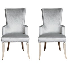 Pair of Wingback Dining Chairs