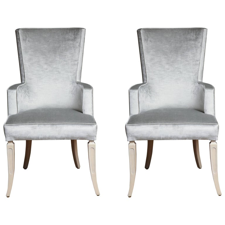 Pair Of Wingback Dining Chairs For Sale At 1stdibs