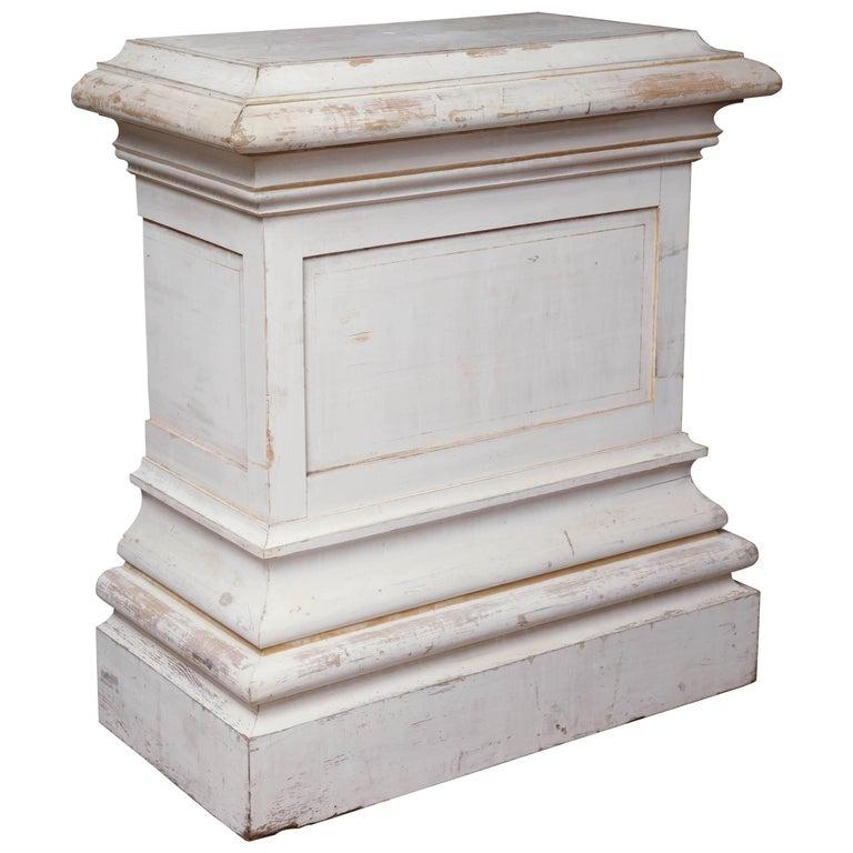 Pair of Antique White Pedestal Tables