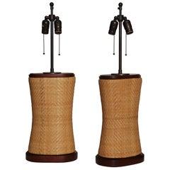 Pair of Antique Neck Pillow Lamps