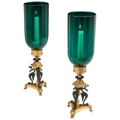 Fine Pair of Regency Storm Lights by Cheney London