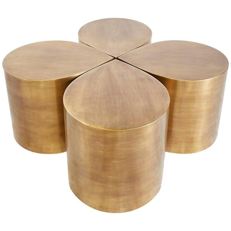 Brass Teardrop Table For Sale