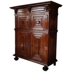 17th Century, Dutch Oakwood Cabinet