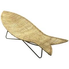 Lina Zervudaki Rattan Fish Lounge Chair
