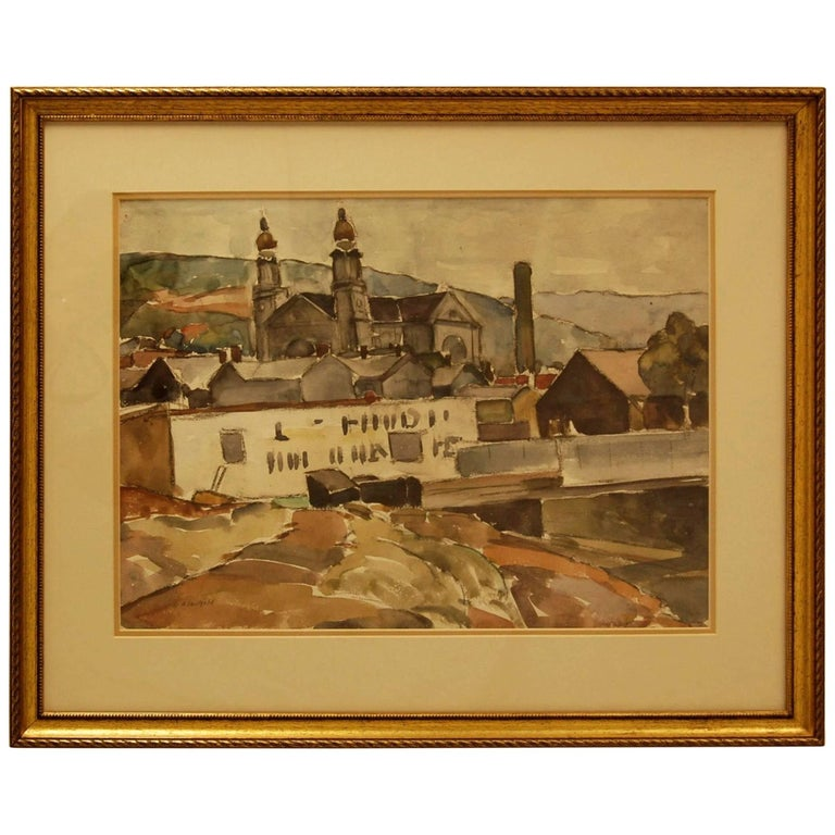 Early to Mid-20th Century Watercolor by William Robert Shulgold